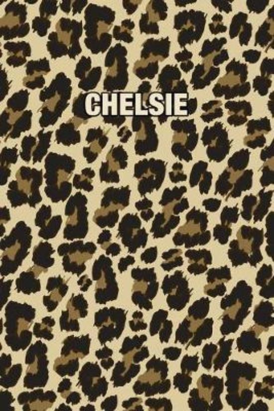 Chelsie: Personalized Notebook - Leopard Print (Animal Pattern). Blank College Ruled (Lined) Journal for Notes, Journaling, Dia