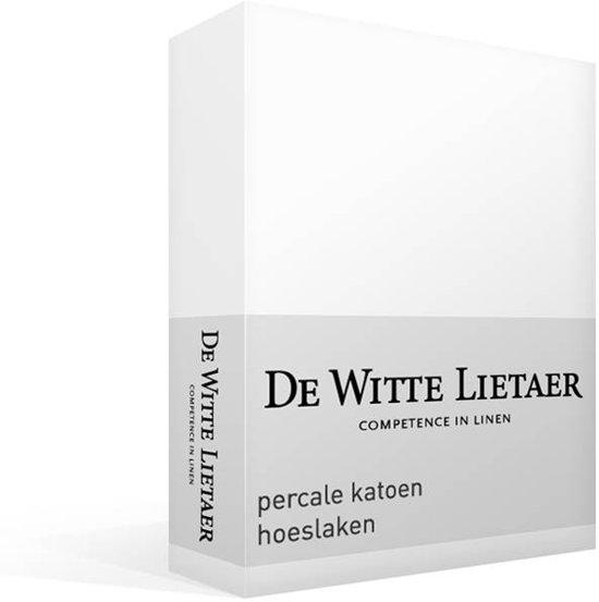 De Witte Lietaer - Jersey elastan - Hoeslaken - Lits-jumeaux - 200x200 cm - White