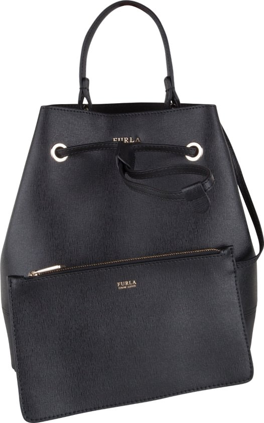 stacy Small Bag Drawstring zwart handtassen Furla m0O8yvNnw