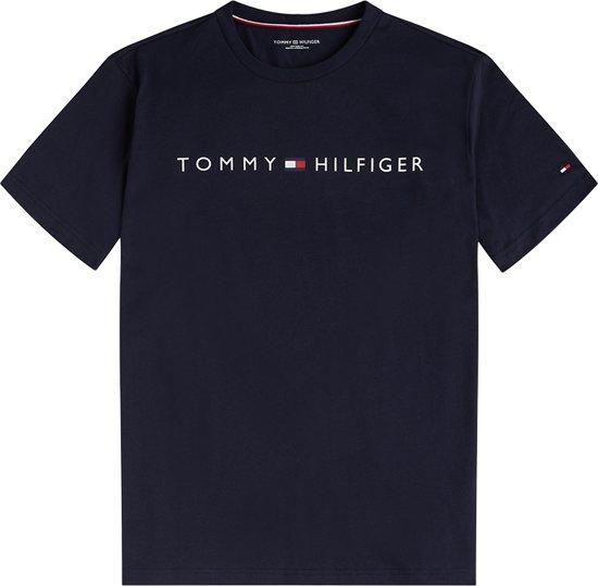 Tommy Hilfiger Heren Ronde Hals Logo Flag T Shirt Navy L