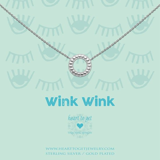Heart to Get necklace geomatric circle,  wink, wink