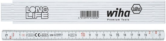 Wiha Vouwmeter LongLife 410 2000 2 m wit