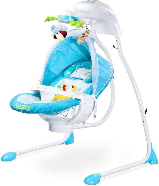Baby Schommelstoel Automatisch.Baby Schommelstoel Caretero Bugies Blauw Geschikt Voor Newborns