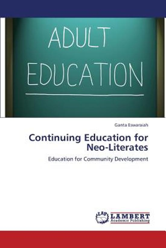 Continuing Education for Neo-Literates