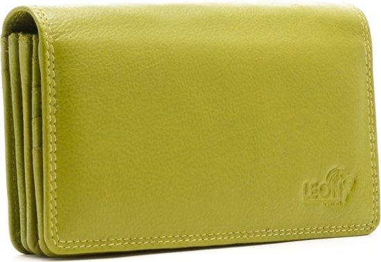 LeonDesign - 16-W784-13 - dames - portemonnee - Groen - leer