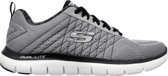 Skechers Flex Advantage 2.0 Sneakers Heren - Light Gray Black