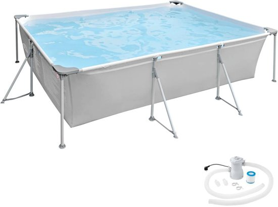 TecTake - Swimming pool rechthoekig 375 x 282 x 70 cm