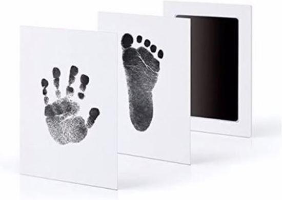 Baby voet- & handafdruk inkt setje – zwart 2 stuks (Kraamkado)