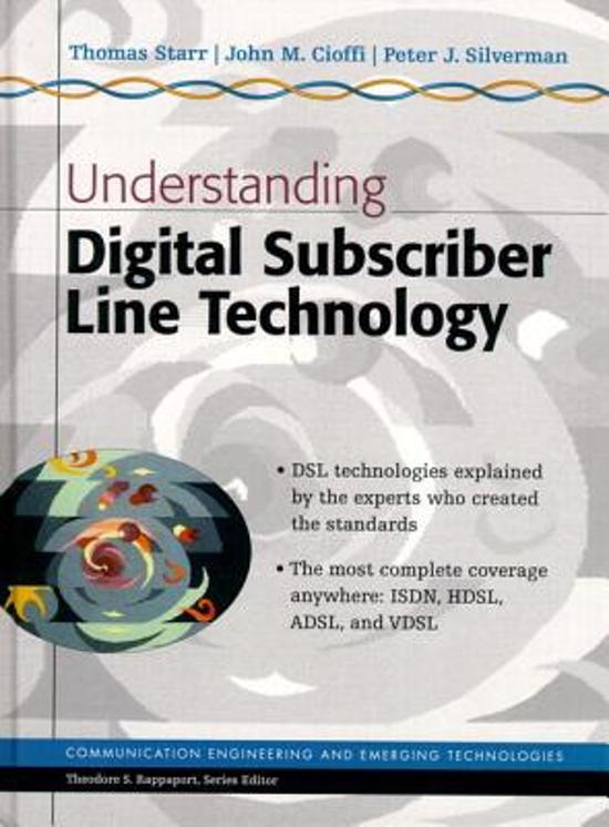 an overview of the new technology of digital subscriber line Download citation | asymmetric digital s | this paper provides a general overview of asymmetric digital subscriber line (adsl) technology this new access technology can provide a high bit rate digital channel between the local telephone operator's building and customer premises by transmitting information over.