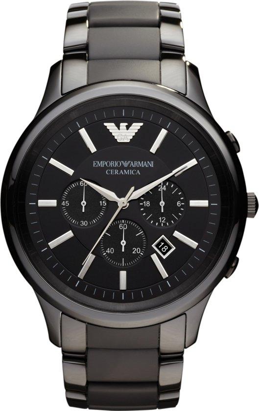 Emporio Armani AR1451 - Horloge - Keramiek - Zwart - Ø 47 mm