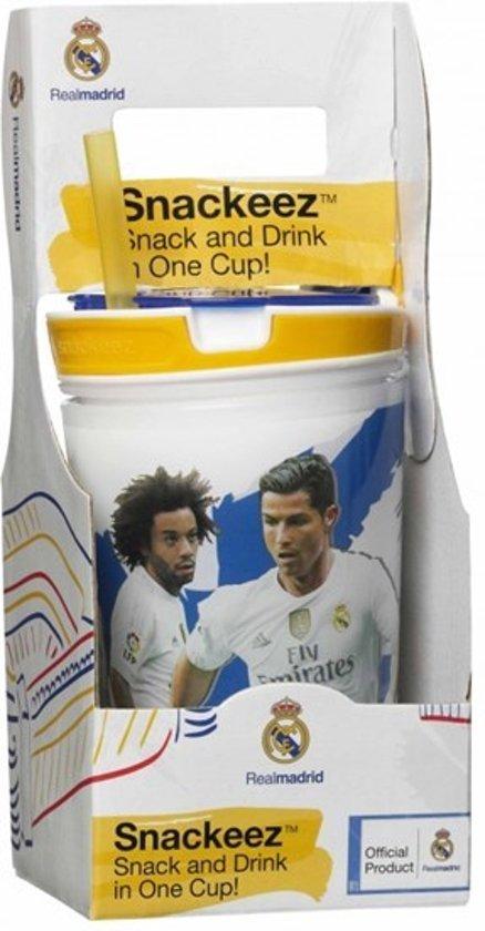 Snackeez Real Madrid Drinkbeker en snackbox in 1