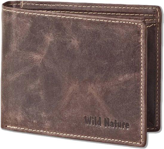 Wild Nature Billfold Portemonnee - Leer - Bruin