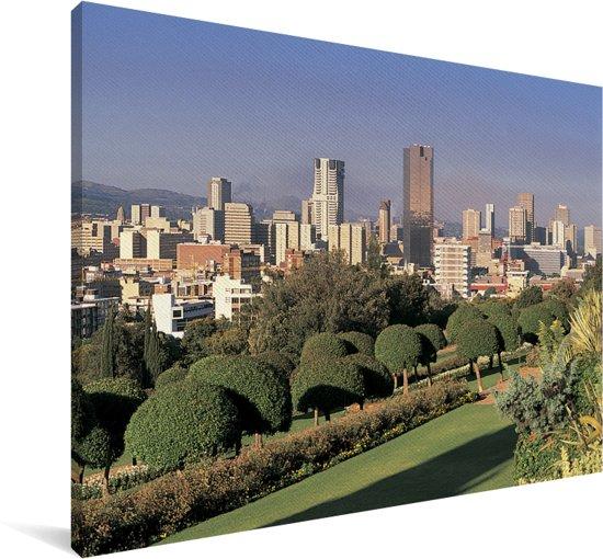 Het Zuid-Afrikaanse Pretoria in de middag Canvas 140x90 cm - Foto print op Canvas schilderij (Wanddecoratie woonkamer / slaapkamer)