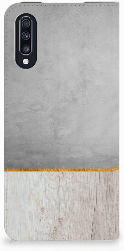 Samsung Galaxy A70 Standcase Hoesje Wood Concrete