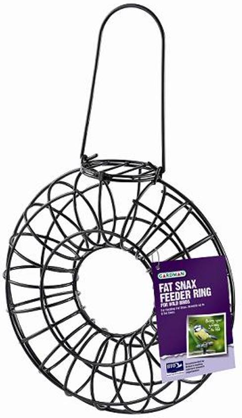 Gardman Vogelvoederhuisje Mezenbol ring - Zwart - 26 cm x 9 cm x 30 cm