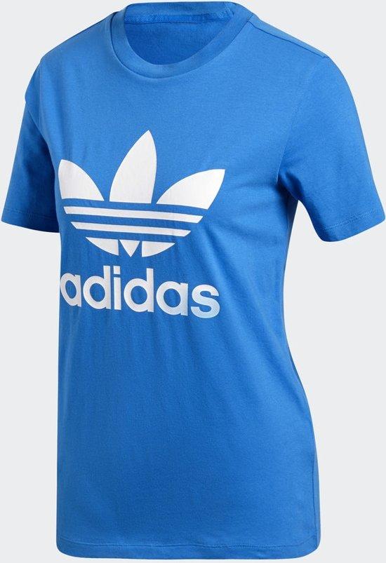 adidas Originals Trefoil Tee T Shirt Dames Bluebird