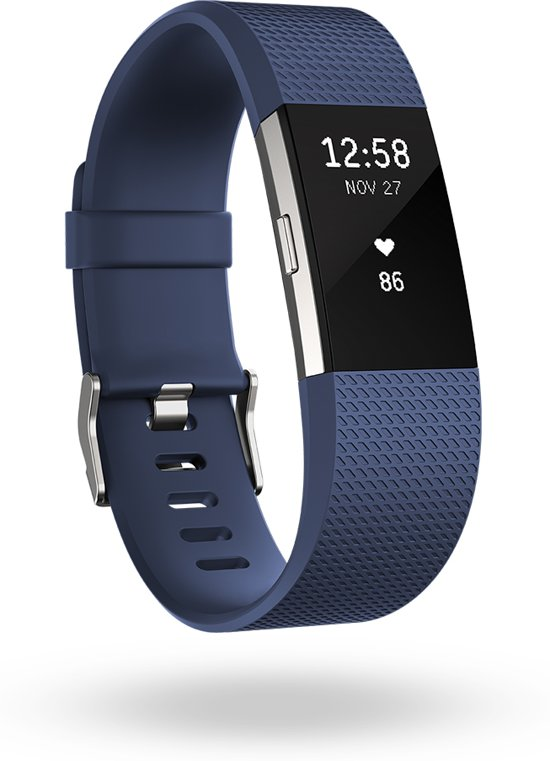 Fitbit Charge 2 - Activity tracker - Blauw - Small
