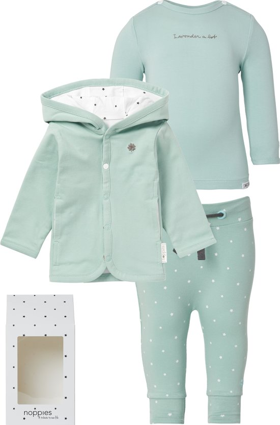 Noppies Kraamcadeau luxe - Grey Mint - 56