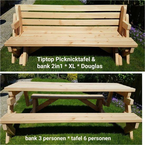 Uitklapbank & Inklaptafel Douglas * XL (3 tot 6 personen)