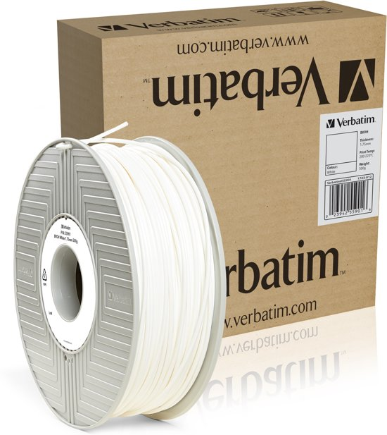 Verbatim 55901 3D Printer Filament BVOH 1.75mm 500g Wit