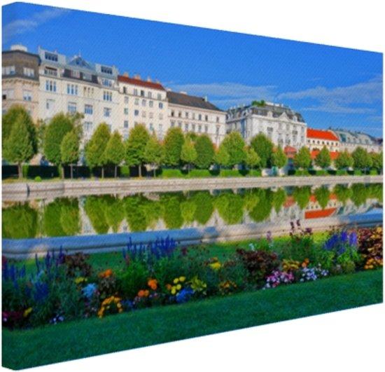 Het Belvedere Paleis Canvas 30x20 cm - Foto print op Canvas schilderij (Wanddecoratie)