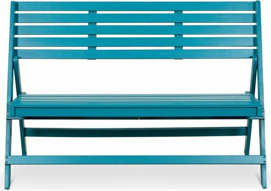 Lanterfant® Tuinbank Cees - Petrol - Inklapbaar - Compact