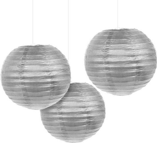 3 Lanterns Silver 20.4cm Valentinaa