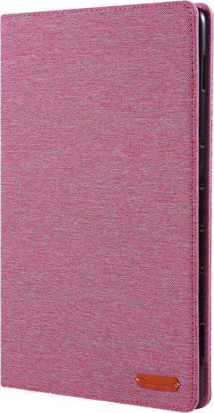 Let op type!! Voor Huawei MediaPad M6 10 8 doek Teature horizontale Flip PU lederen draagtas met met houder & kaartsleuven (Rose Pink)