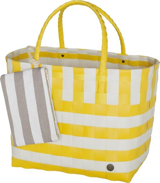 Handed By Breeze - Strandtas - geel met wit