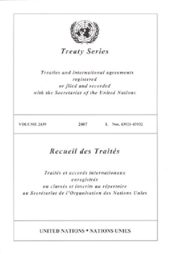Treaty Series 2439 I