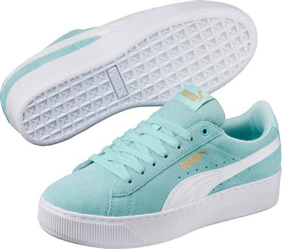 918376b44f0 bol.com | PUMA Vikky Platform Jr Sneakers Kids - Island Paradise-White
