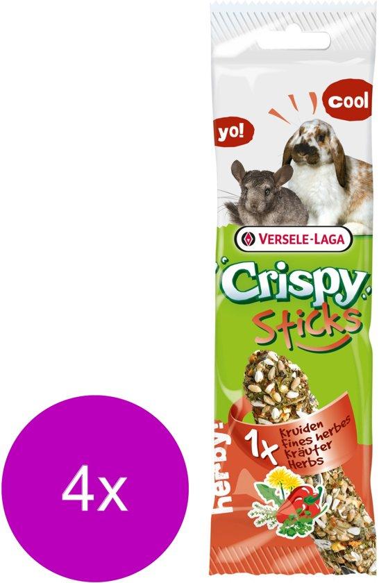 Versele-Laga Crispy Sticks Konijn Kruiden - Konijnensnack - 4 x 55 g