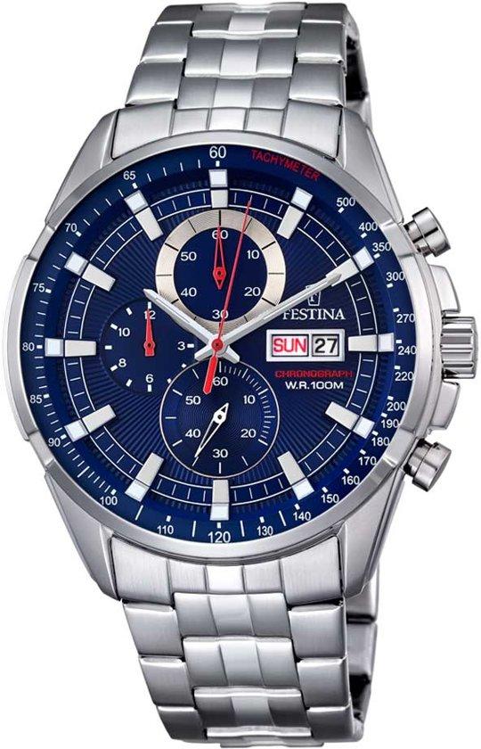 Festina F6844/3 horloge heren - zilver - edelstaal