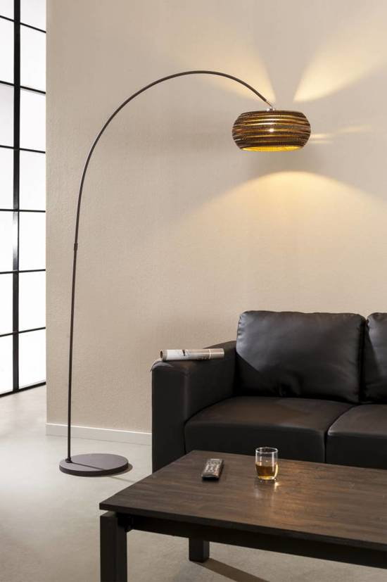 Favoriete bol.com | Duverger Vloerlamp boog 1L Carta / Bruin #UB12