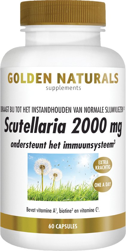 Golden Naturals Scutellaria 2000 mg (60 vegetarische capsules)