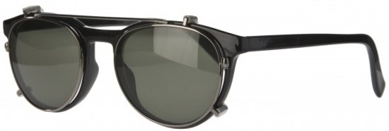 Icon Eyewear NTB350 Figo Clip-On Zonneleesbril +1.50 - Glanzend zwart