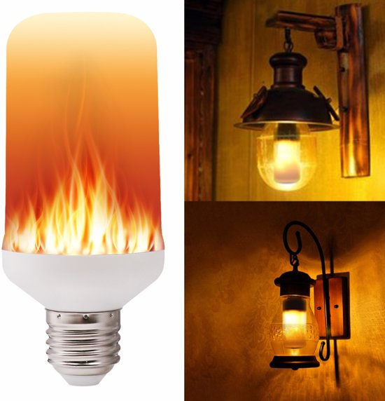 LED Vuur Lamp met fire-simulatie - E27 - Vlam licht - Flame Light - Vuurlamp