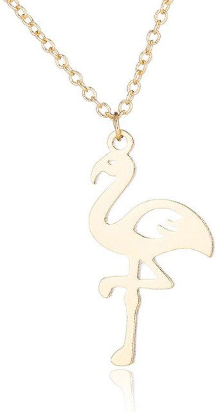 24/7 Jewelry Collection Flamingo Ketting - Goudkleurig