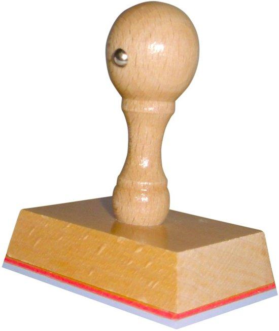 Handstempel 55x45 Mm | Stempel laten maken | Stempel met uw afbeelding en tekst | Bestel nu!