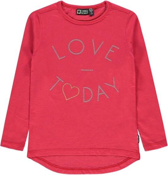 a3b4ce9d06d bol.com | Tumble 'n Dry Meisjes T-shirt Yfelipa - Teaberry - Maat 122