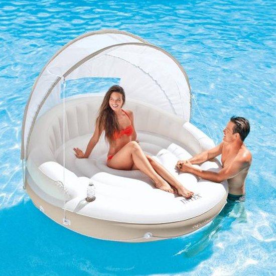 Intex Boot Canopy Island - opblaasbare sofa - drijvende eilandje