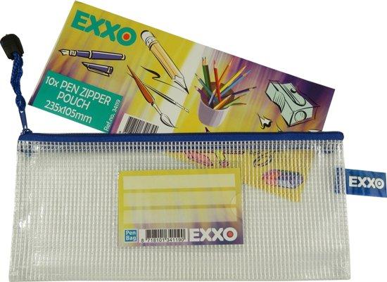 EXXO-HFP - Pen-etui - Multi-Purpose - Rits Blauw - 2 stuks