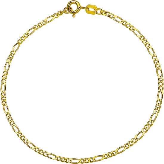 The Jewelry Collection Ketting Figaro 1,8 mm - Geelgoud