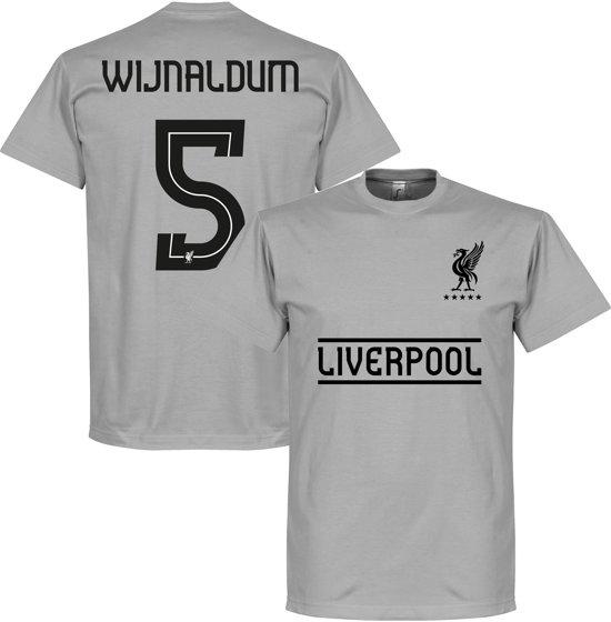 best service 2e33d 1cf3e Liverpool Wijnaldum 5 Team T-Shirt - Grijs - M