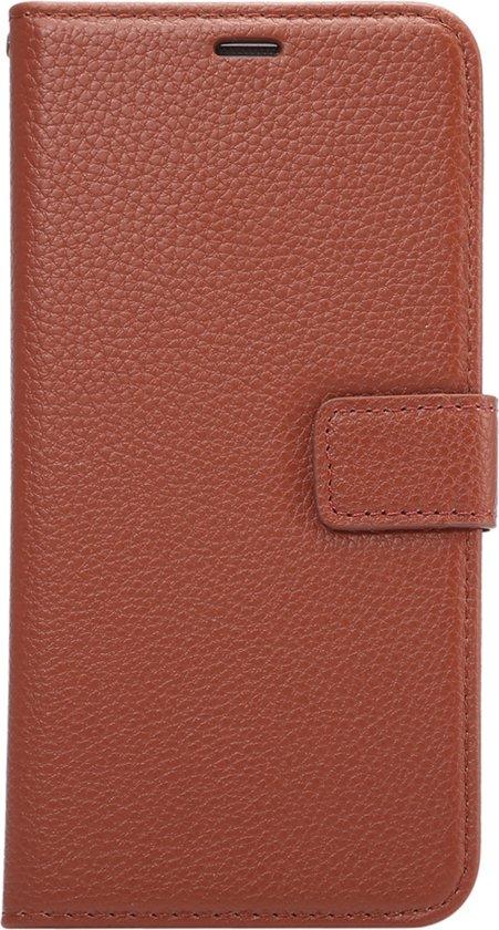 Mobigear Litchi Wallet Book Case Premium Bruin voor Samsung Galaxy S6 Edge