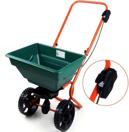 Zoutwagen, strooiwagen voor kunstmest, zaad en zand met 25 liter volume