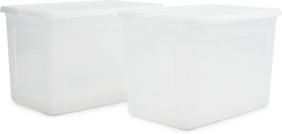 IRIS Clearbox Opbergbox - 70 l - Kunststof - Transparant - 2 stuks