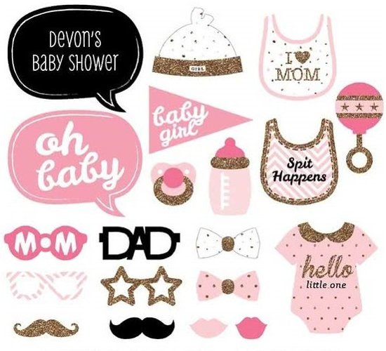 Bolcom Ibello Babyshower Meisje Girl Party Prop Photo Booth Set