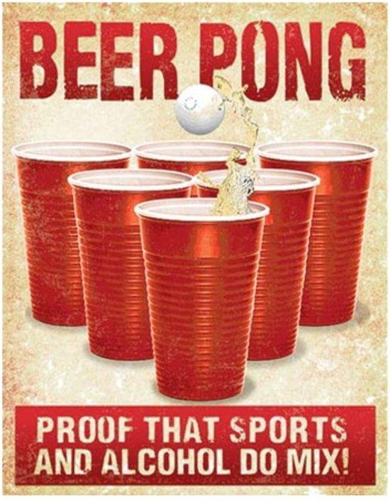 Metalen Retro Bord Beer Pong