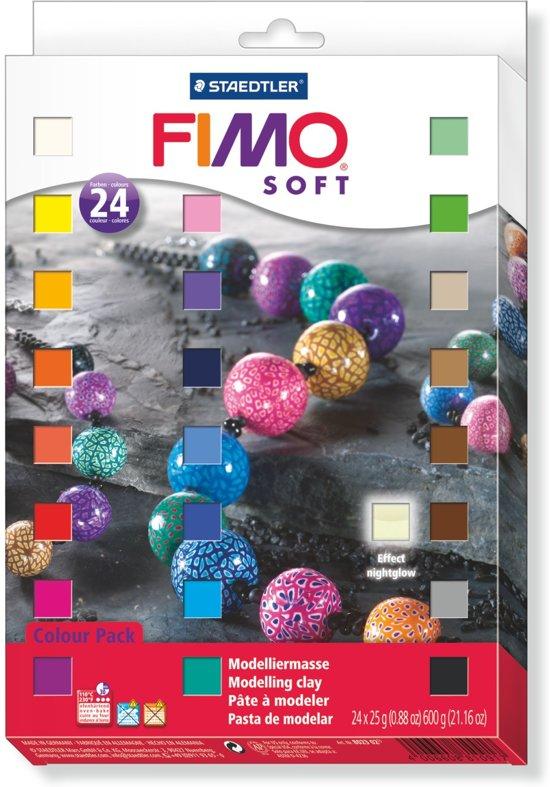 Fimo soft set - etui 24 halve blokken